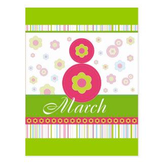 El día de las mujeres internacionales de March8 ma Tarjeta Postal
