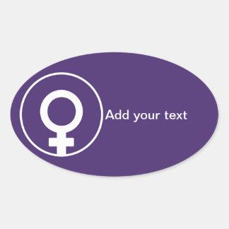El día de las mujeres internacionales pegatina ovalada