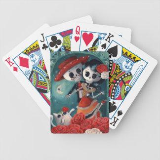 El día de los amantes esqueléticos muertos cartas de juego