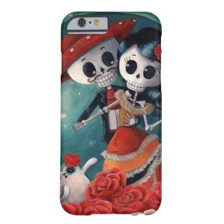 El día de los amantes esqueléticos muertos funda para iPhone 6 barely there