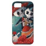 El día de los amantes esqueléticos muertos iPhone 5 fundas