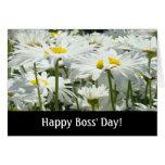 ¡El día de los jefes felices! la margarita blanca  Felicitaciones
