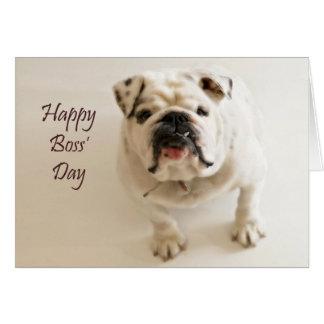 El día de los jefes felices tarjeta de felicitación