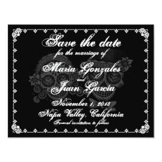 El día de los muertos ahorra las invitaciones de invitación 10,8 x 13,9 cm