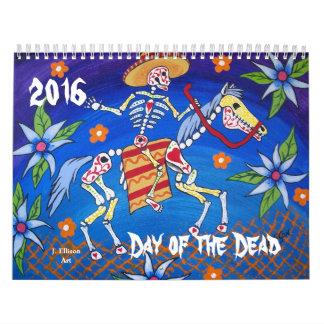 El día de los muertos ilustró el calendario 2016