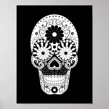 Halloween Themed El Dia De Los Muertos Poster