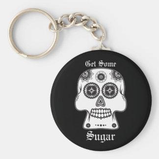 El Día de los Muertos sugar skull day of the dead Basic Round Button Keychain
