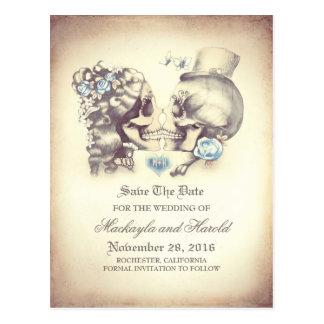 El día de los pares del cráneo de los muertos postales