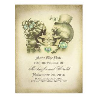 El día de los pares del cráneo de los muertos tarjeta postal
