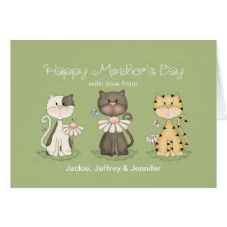 El día de madre, 3 gatos de todos - nombres de tarjeta de felicitación