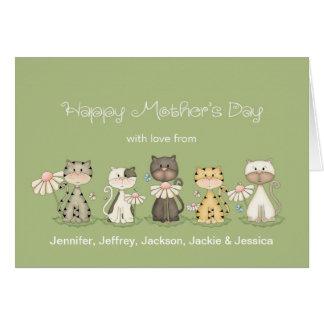 El día de madre, 5 gatos de todos - nombres de tarjeta de felicitación