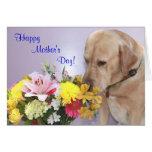 El día de madre adaptable/perro/amante del laborat tarjetas