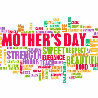El día de madre como día especial con palabras adorno fotoescultura