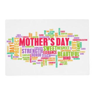 El día de madre como día especial con palabras tapete individual