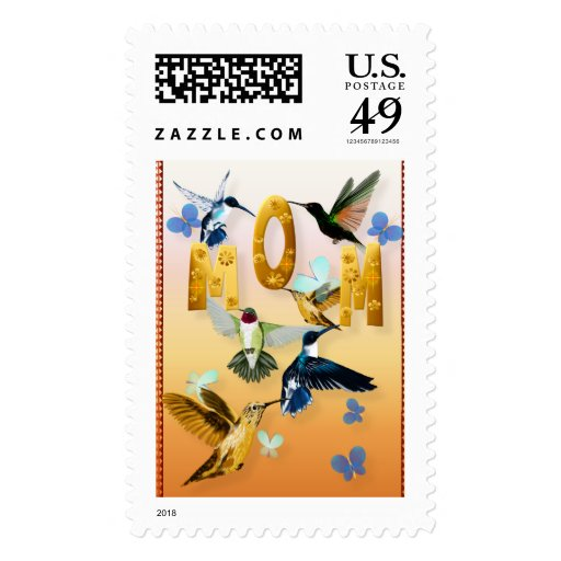 El día de madre con los pájaros del tarareo sello postal