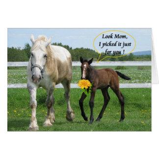 El día de madre de caballo tarjeta de felicitación