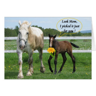 El día de madre de caballo tarjeta pequeña