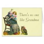 El día de madre de la abuela y del niño del vintag
