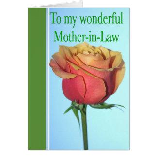 El día de madre de la suegra con la tarjeta de fel