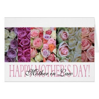 el día de madre de la suegra tarjeta de felicitación