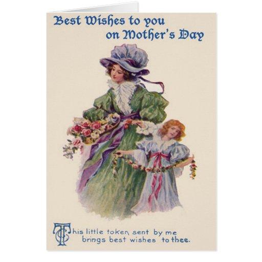 El día de madre de las flores de la madre y de la  tarjeta de felicitación