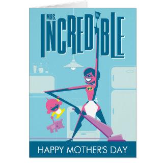 El día de madre de señora Incredible Tarjeta De Felicitación