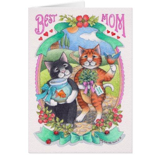 El día de madre del brote y de Tony #82 Notecard Tarjeta De Felicitación
