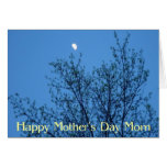 El día de madre del cielo nocturno tarjeta