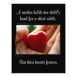 """El día de madre del corazón a disposición - invitación 4.25"""" x 5.5"""""""
