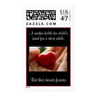 El día de madre del corazón a disposición - timbres postales