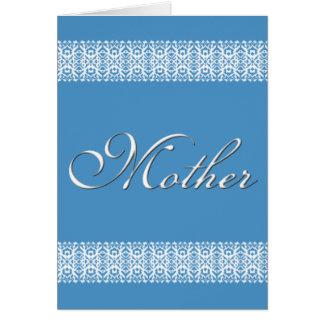 El día de madre del cordón tarjeta de felicitación