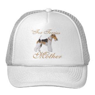 El día de madre del fox terrier del alambre gorras de camionero