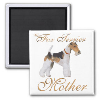 El día de madre del fox terrier del alambre imanes para frigoríficos