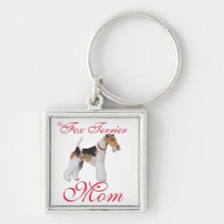 El día de madre del fox terrier del alambre llaveros