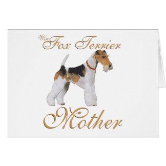 El día de madre del fox terrier del alambre felicitacion
