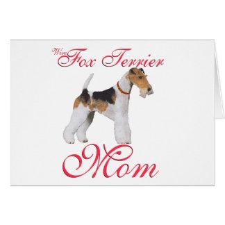 El día de madre del fox terrier del alambre tarjeta