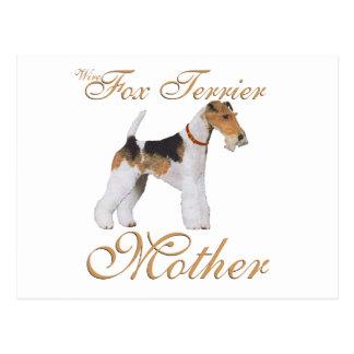 El día de madre del fox terrier del alambre tarjetas postales