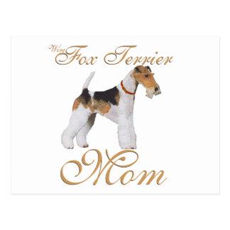 El día de madre del fox terrier del alambre postal