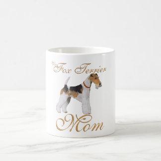 El día de madre del fox terrier del alambre tazas de café