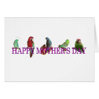 El día de madre del loro tarjeta de felicitación