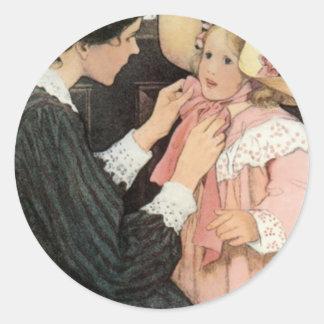 El día de madre del niño de la madre de Jessie Etiqueta Redonda