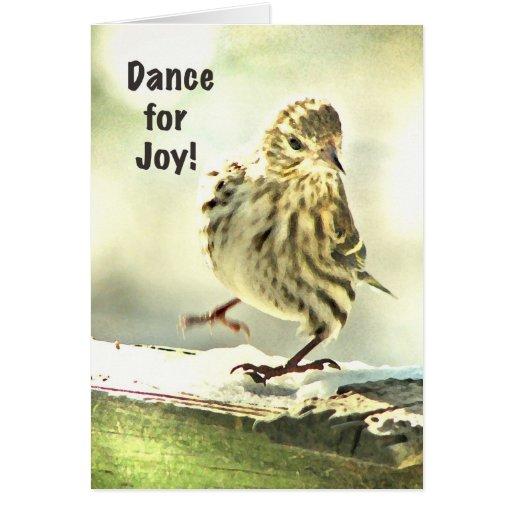 El día de madre del pájaro del baile tarjeta