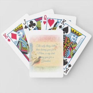 El día de madre del petirrojo del vintage baraja de cartas