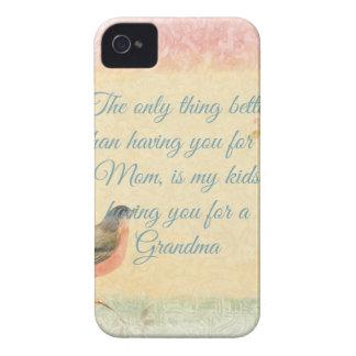 El día de madre del petirrojo del vintage iPhone 4 Case-Mate carcasas