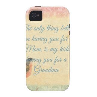 El día de madre del petirrojo del vintage Case-Mate iPhone 4 fundas