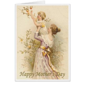 El día de madre del Victorian Tarjeta De Felicitación