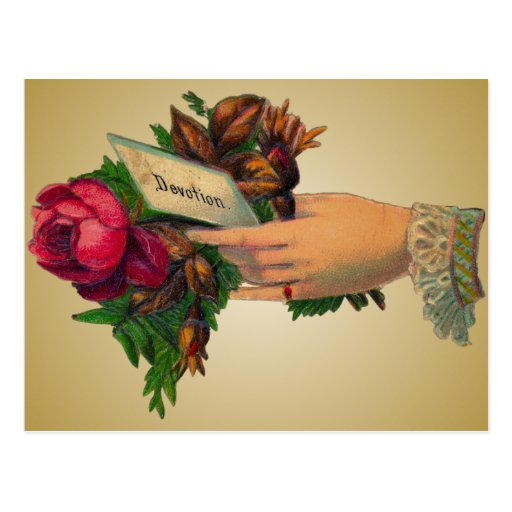 El día de madre del vintage con rojo florece la po tarjetas postales