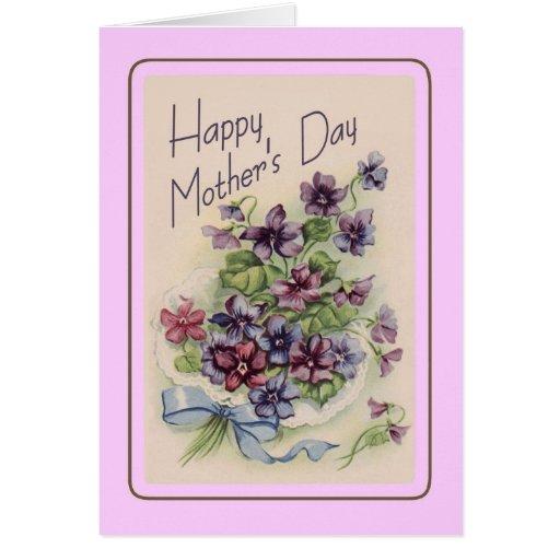 El día de madre del vintage tarjeta de felicitación