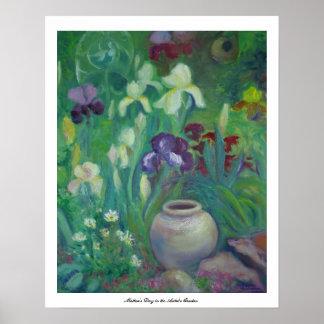 El día de madre en el jardín del artista póster