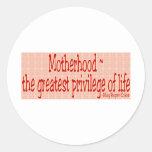 El día de madre etiqueta redonda